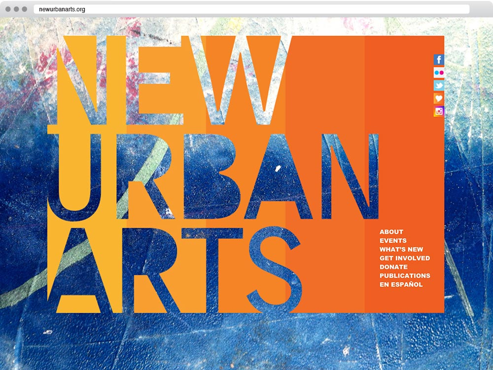 Website design for New Urban Arts