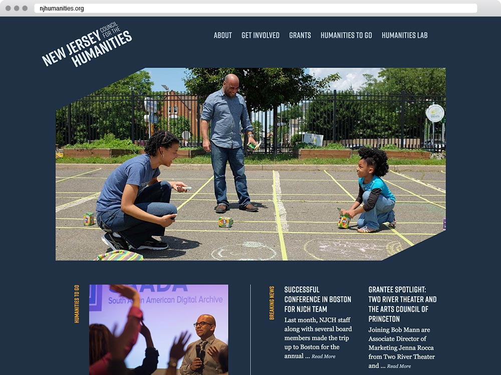 Website design for the NJ Council for the Humanities