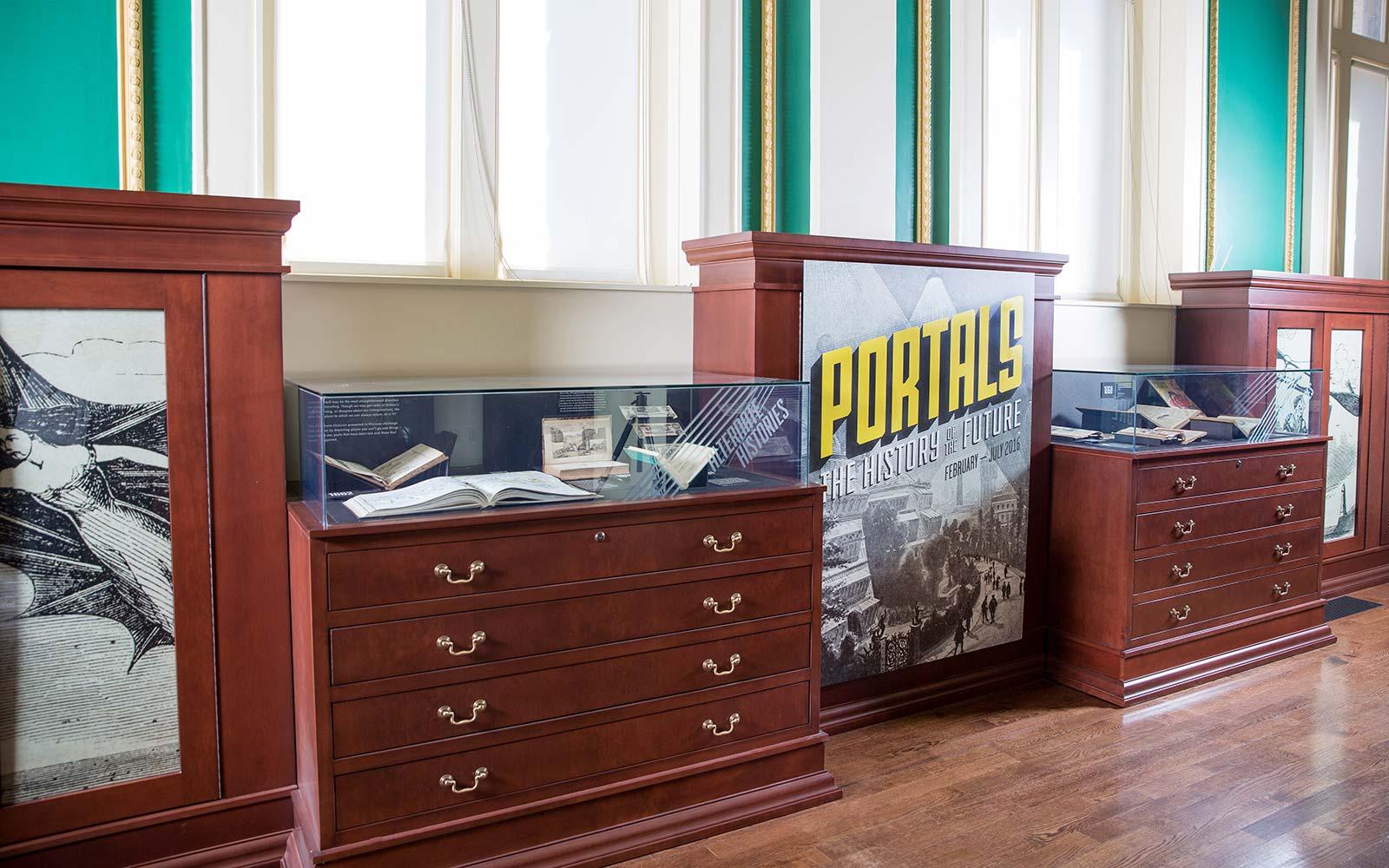 Exhibit signage designed for Providence Public Library